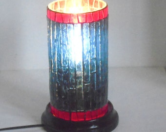 Stained Glass Mosaic Table Lamp Accent Lamp End Table Lamp Desk Lamp Home Decor Lighting Night Light Living Room Decor Nusery Lighting