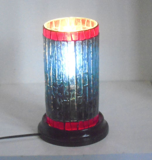 Stained Glass Mosaic Table Top Lighting Electric Lamp Night