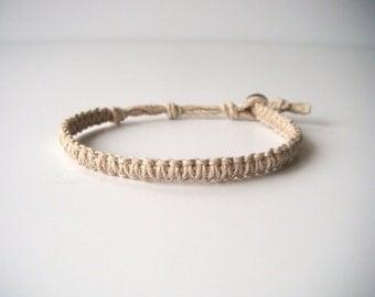Hemp Bracelet, Indie Hemp Works, Aromatherapy, Hemp Bracelets, Hemp Anklets, White, Natural, Hemp Jewelry, Hippie, Boho, Minimalist, Simple