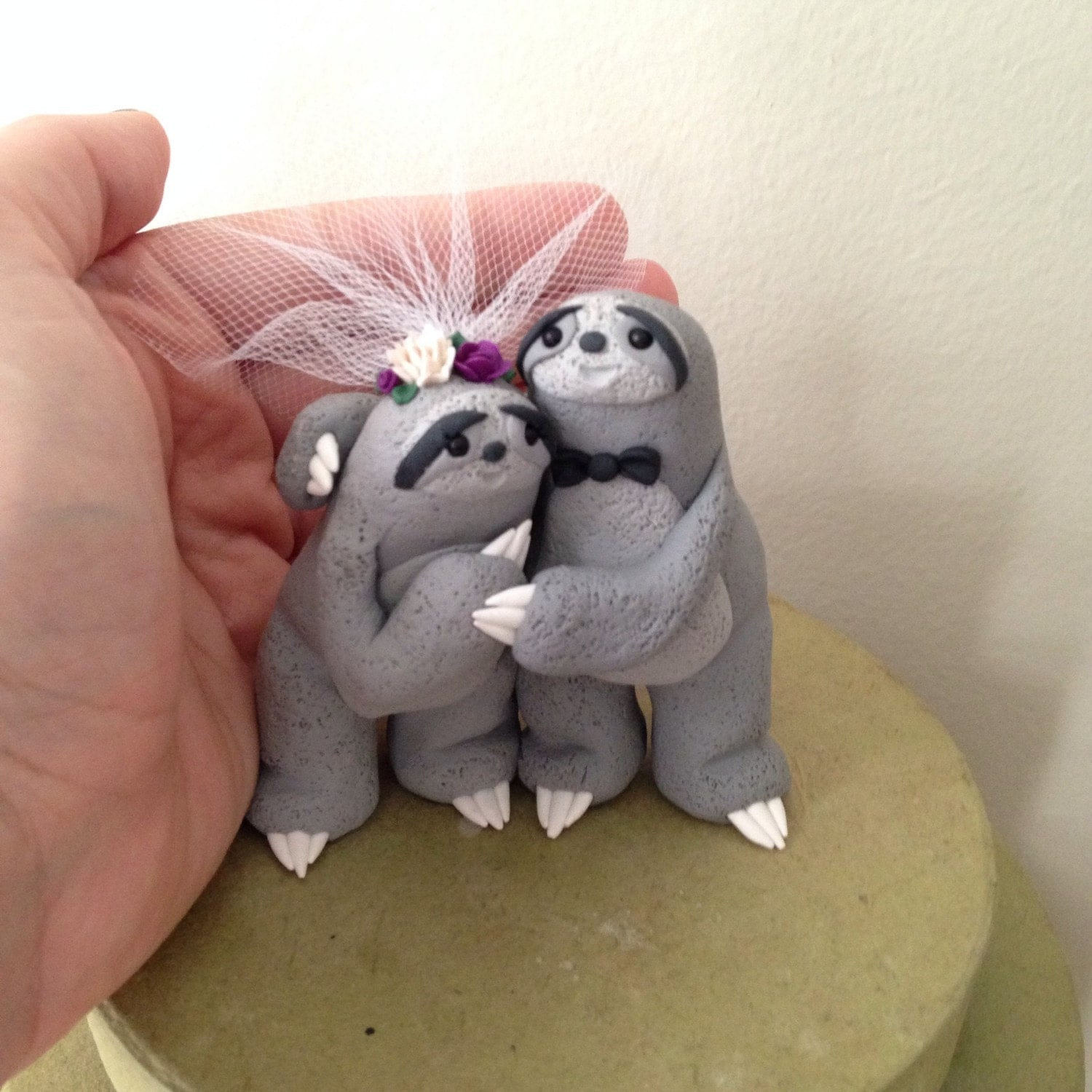 sloth wedding cake topper sloth wedding cake topper handmade by theaircastle on 20197