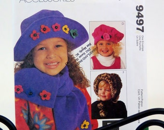 McCall's Children's Hat Sewing Pattern - # 9497