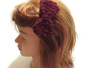 Maroon Bow Clip Crochet Bow Hair Clip Maroon Hair Accessory Girls Hair Bow