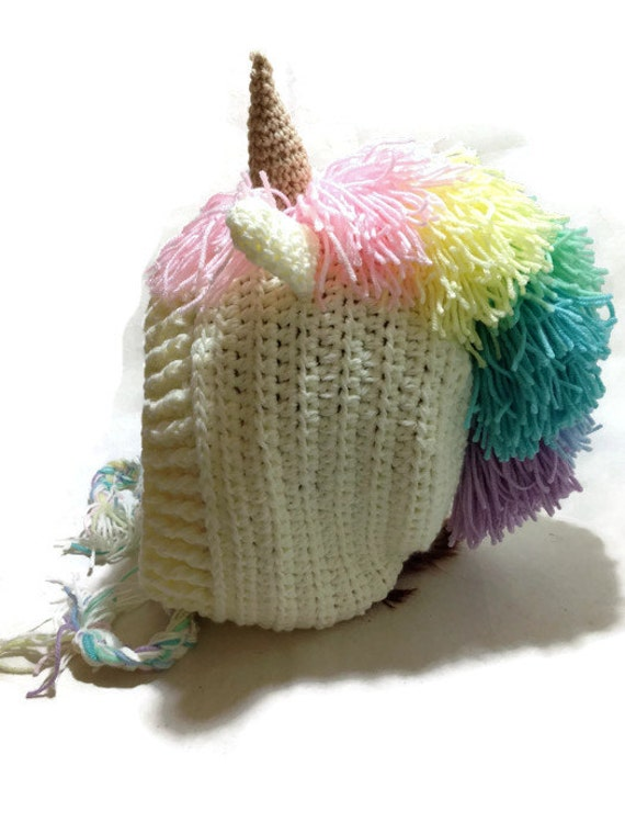 Unicorn Hood Crochet Pixie Hat Unicorn Cosplay Hood Crochet Unicorn ...