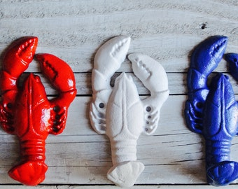 Lobster Nautical Wall Hook, Cast Iron Wall Hook, America