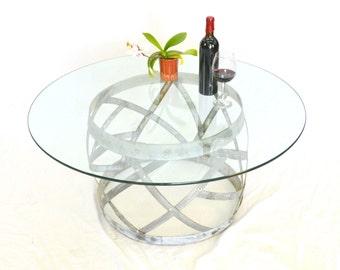 """SAFARI - """"Tanovi"""" - Wine Barrel Ring Coffee Table - 100% recycled"""
