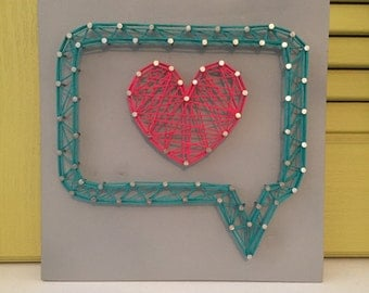 Speech Bubble String Art