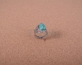 Egyptian Jewelry Silver Plated Open work Filigree Scarab Ring