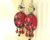 Pink Earrings / Dangle Earrings / Summer Earrings / Fuchsia Earrings / Polymer Earrings