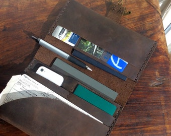 Benson wallet, handmade leather travel wallet, passport case, ticket holder, family travel wallet, vacation organizer & wallets by AixaSobin