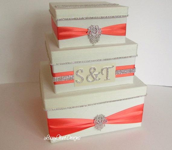 Card Box, Bling Card Box, Rhinestone Money Holder, Unique Wedding Gift ...