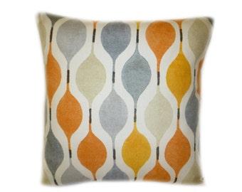 "Pair Orange Gray Designer Pillow Cushion Covers Throw Scatter Decorative 16"" (40cm)"