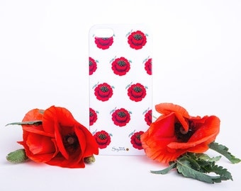 Poppies Pattern iPhone Case - Floral iPhone 6 / 6 Plus Case - iPhone 5 / 5S Case - iPhone 4 Case - HTC - Samsung - Lenovo - Sony - Nokia