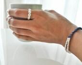 Sterling Silver Roses Adjustable Ring