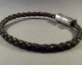 Brown Braided Leather Bracelet-Men's braided Leather Bracelet-Women's Braided Bracelet-Wrist Bracelet-Friendship Bracelet-Gifts-Men Bracelet