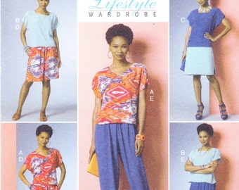 Butterick Sewing Pattern B6221 Y Misses' Top, Dress, Shorts and Pants New UNCUT