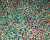 Designer Clothing Fabrics By The Yard Designer Peacock Feathers