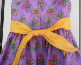 dress buterfly dress little girl dress