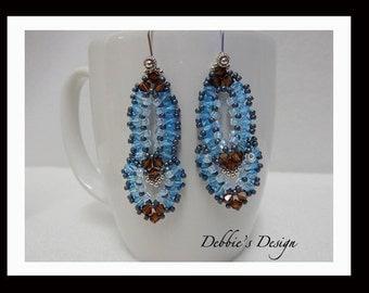 Women's Hand Beaded Dangle Earrings-425 Women's Earrings, One of a Kind, Gifts, Jewelry, Beadwork, Beaded, Dangle, Women's Jewelry