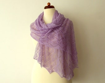 bridal shawl, delicate lace wrap, romantic brde stole, light delicate handknitted throw, custom colors, MADE TO ORDER