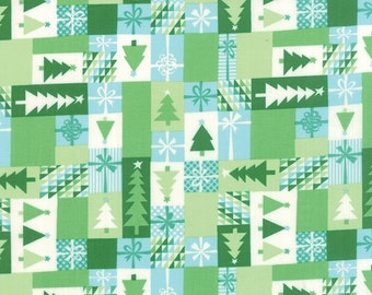 Jingle - Patchwork in Cedar by Kate Spain for Moda Fabrics