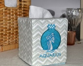 50% OFF!  Zodiac Signs Aquarius Tissue Box Cover