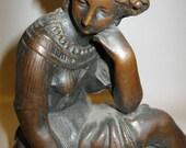 On Sale! VICTORIAN Bronze MUSE Hellenistic Revival SCULPTURE