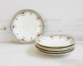 Vintage serving plates - Aynsley bread cake display roses english pottery.