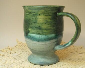 Bullfrog Green over Sagebrush pedestal mug