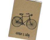PASSPORT COVER - Adventure is Calling. Vintage Bike, Bicycle. Wanderlust. Passport Holder, Passport Protector, Travel Wallet, International