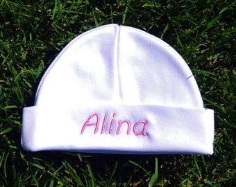 Personalized Newborn Hat Cap, Baby Shower Gift, Present For New Born