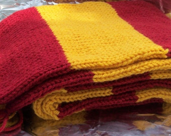 Gryffindor Inspired Hand Knitted Deluxe Scarf - Custom Order