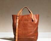 Hansen Tote - Brown + Tan