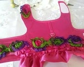 Satin Dog Harness Vest - Any Size - Hot Pink - Special Occassion