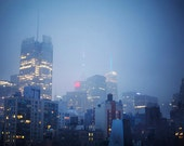 Manhattan at Dusk - 8x10 Fine Art Photograph, Skyline, New York, Travel, NYC, Wall Art
