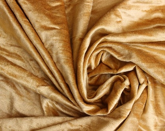 Gold Cotton Viscose Velvet Fabric By the Yard Upholstery Weight Fabric Commercial Curtain Fabric Dcorative Fashion Velvet Window Treatment