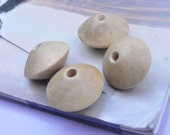 Large Bicone Wooden Beads - Double Cone Unfinished Natural Wood Beads 27mm x 17mm