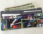 BillFold Mens Wallet Boys Wallet Kids Wallet - Made With Star Wars Comics Fabric - Ready to Ship