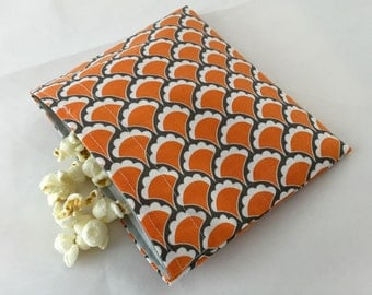 Reusable Snack Bag - Orange Scallops  - Ready to Ship