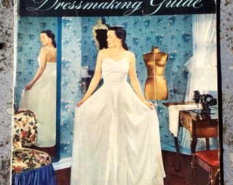Singer Dressmaking Guide Vintage Sewing Instruction Book - retro sewing book, singer sewing company, clothing construction book