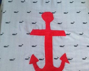 Nautical crib quilt