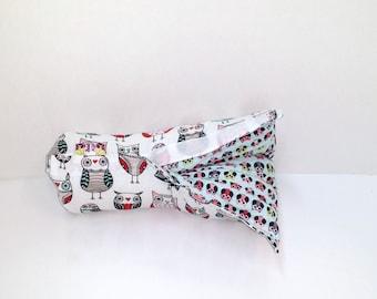 Infant Car Seat ARM PAD, Handle Cover Wrap, Reversible -  Big Owls Little Owls