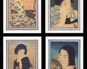 4 Blank Note Cards of Shin Hanga Bijin by Kotondo gccs014