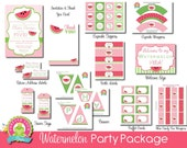 Watermelon Party Package / Watermelon Party Invitation / Watermelon Party / Watermelon Invitation / Summer Birthday / Summer Invitation