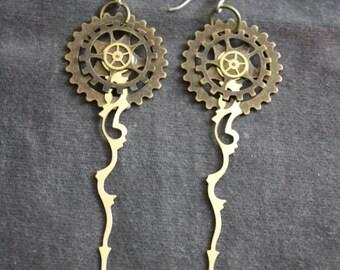 STEAMPUNK watchpart earrings