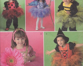 Ladybug Costume pattern Bumble Bee Fairy Witch - Toddler Size 1/2 - 4 Uncut Simplicity 2794