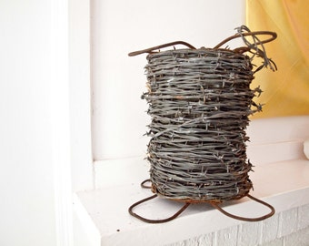 Antique Barbed Wire / 4 Point Wire / Fence Roll