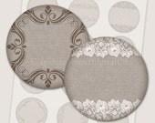 Printable labels rustic labels Burlap labels 2x2 Digital labels Labels for wedding favors Printable tags digital collage sheet