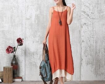 Loose Fitting Long Maxi Dress - Summer Dress - Sleeveless Sundress for Women