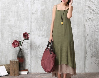 Loose Fitting Long Maxi Dress - Summer Dress - Sleeveless Sundress for Women
