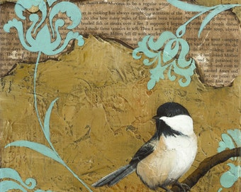 Chickadee - Archival paper reproduction
